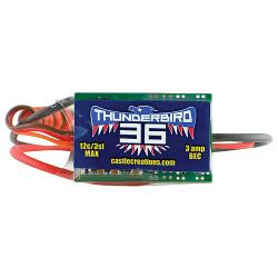 Thunderbird Brushless ESC, 36-Amp by Castle Creations