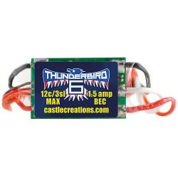 Thunderbird Brushless ESC, 6-AMP by Castle Creations