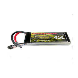 1300mAh 2S 7.4V G8 Performance Pro 45C LiPo by Thunder Power RC