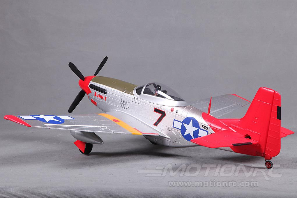 Fms P 51 Mustang V2 Red Tail 800mm 31 5 Pnp